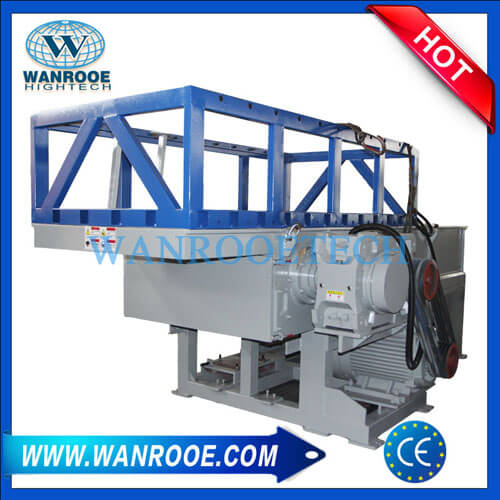 Heavy Duty Waste Plastic Pipe Single Shaft Shredder