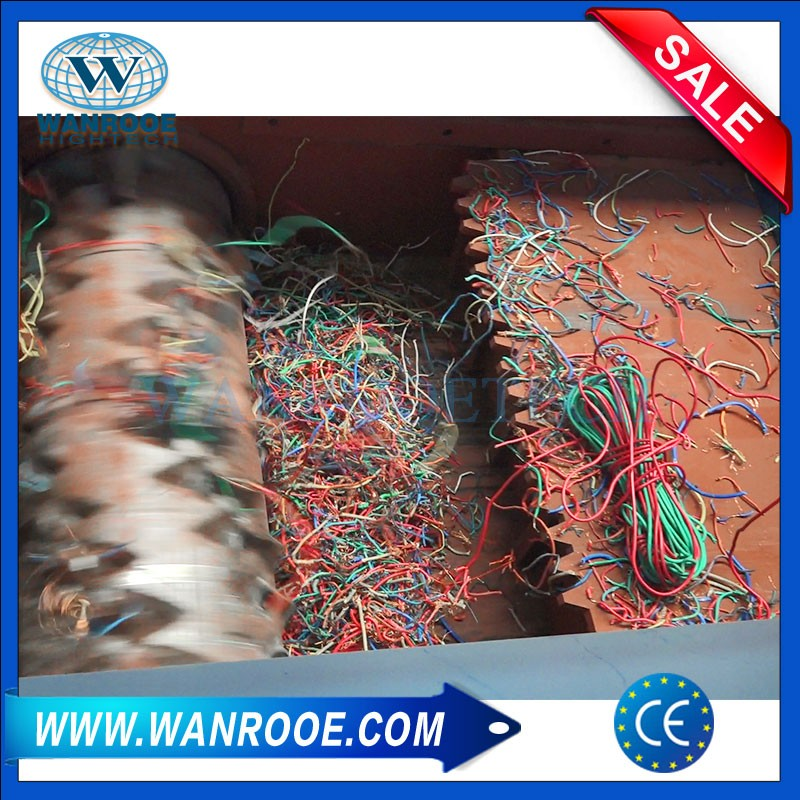Single Shaft Copper Cable Wire Shredder Machine