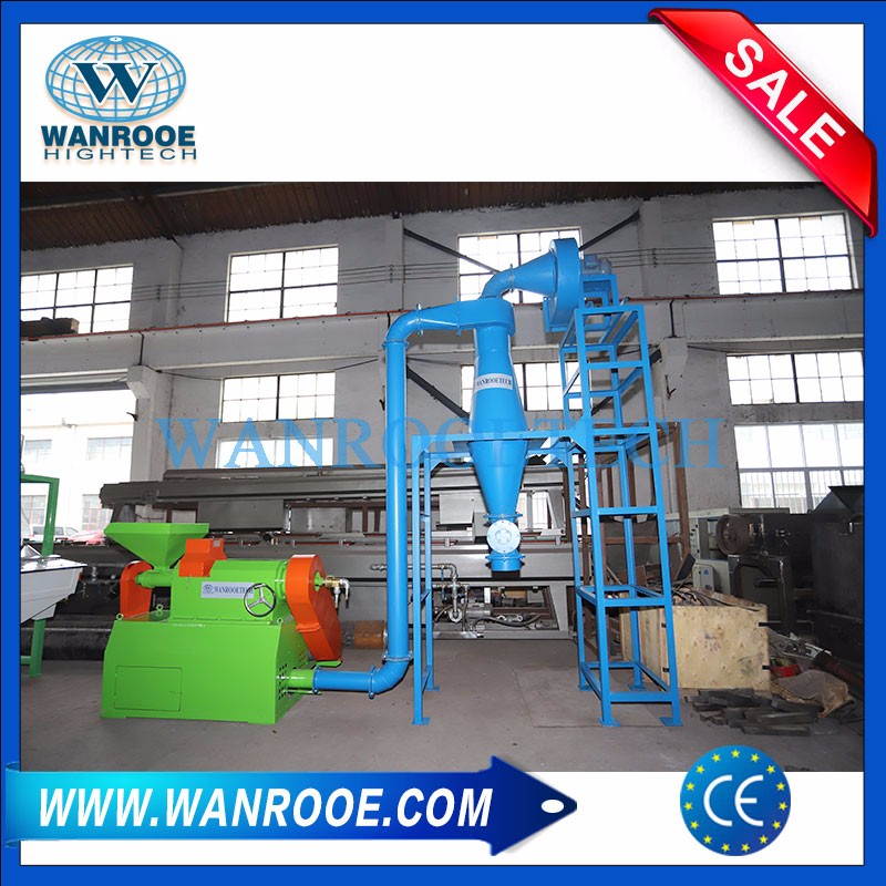 Rubber Powder Pulverizer Machine For Tire Recycling Plant