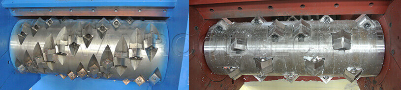 Single Shaft Shredder 'V' shaped blade