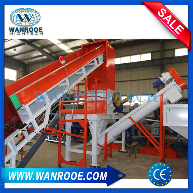 Wet Cursher Machine for Plastic Film Bags Recycling