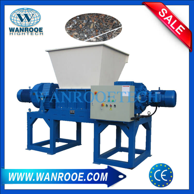 Double Shaft Waste Plastic Pallet Wood Shredder Machine