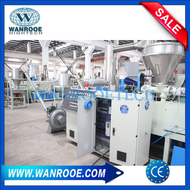 PVC Hot Cutting Pelletizing Line PVC Granulator Machine