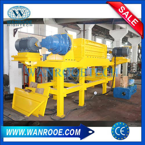 Plastic Car Bumper Shredding Plastic Bottle Double Shaft Shredder Machine